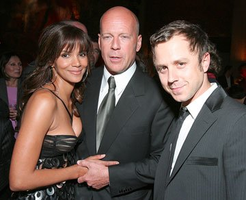 Halle Berry , Bruce Willis and Giovanni Ribisi at the New York premiere of Sony Pictures' Perfect Stranger