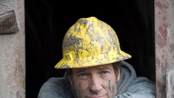 Mike Rowe of Dirty Jobs during Rock Quarry episode in Monroe, WA.