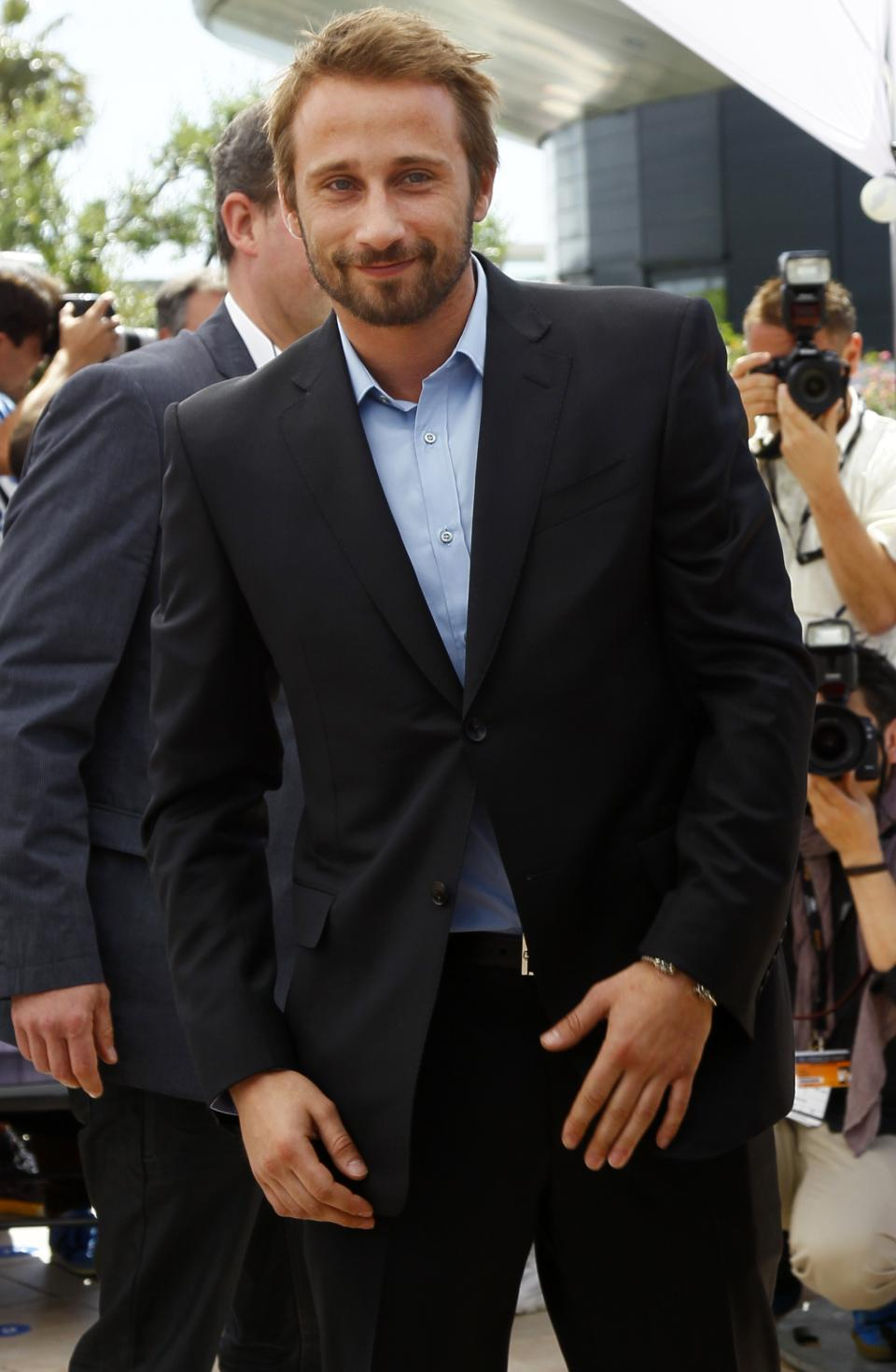 Actor Matthias Schoenaerts poses during a photo call for Rust and Bone at the 65th international film festival, in Cannes, southern France, Thursday, May 17, 2012. (AP Photo/Joel Ryan)