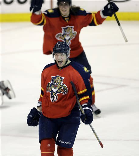 Panthers slip Devils 3-2 in OT