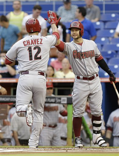 Goldschmidt's 2 HRs lead Marlins over D-backs 9-2