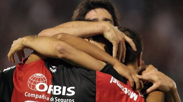 Newell's Old Boys' players celebrate (AFP)