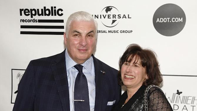 Musician Mitch Winehouse, left, and Janis Winehouse, right, attend the 2013 Amy Winehouse Foundation Inspiration Awards and Gala on Thursday March 21, 2013, at the Waldorf Astoria Starlight Room in New York. (Photo by Andy Kropa/Invision/AP)