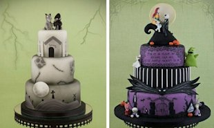 Tim Burton Wedding Cakes