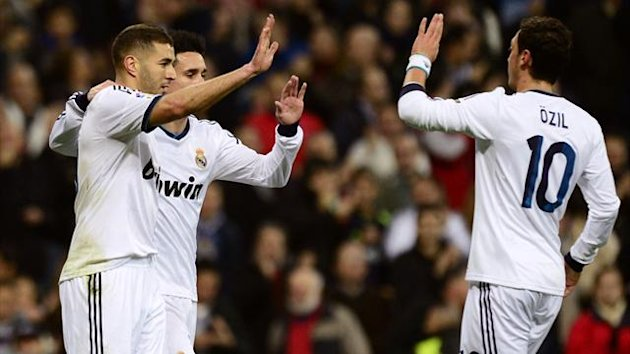 FOOTBALL - 2012/2013 - Real Madrid-Athletic Bilbao - Benzema - Ozil