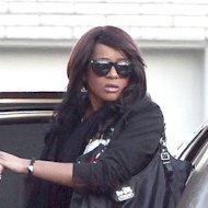 Bobbi Kristina Brown at Whitney Houston's funeral