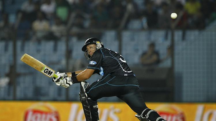 New Zealands Ross Taylor Plays A Shot During Their ICC Twenty20