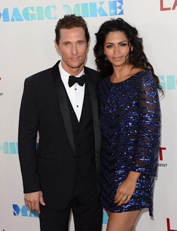 Matthew McConaughey and Camila McConaughey step out at the premiere of &#39;Magic Mike&#39; during the 2012 Los Angeles Film Festival in Los Angeles on June 24, 2012 -- Getty Images