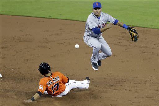 Marlins beat Mets 4-3 in 15 innings