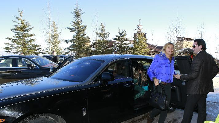 "Mariel Hemingway  from the film ""Running from Crazy"" arrives with in a Rolls Royce at Resorts West House of Luxury, on Monday, Jan 21. 2013 in Park City, Utah. (Photo by Benjamin Cohen/Invision for Rand Luxury/AP Images)"