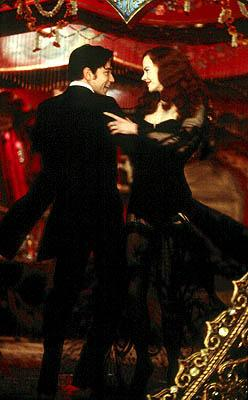 Ewan McGregor as Christian and Nicole Kidman as Satine  find themselves falling in love in 20th Century Fox's Moulin Rouge