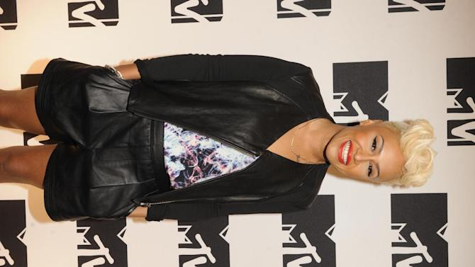 IMAGE DISTRIBUTED FOR MTV - Emeli Sande arriving at the 2013 MTV Upfront, on Thursday, April 25, 2013 at the Beacon Theater in New York. (Photo by Scott Gries/Invision/AP Images)