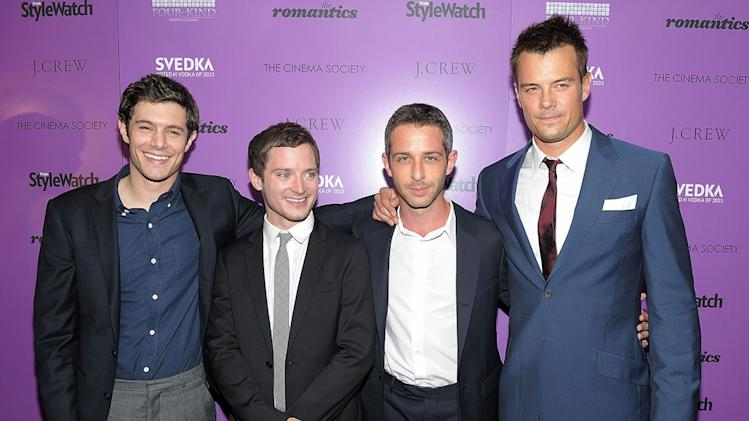 The Romantics NYC Screening 2010 Adam Brody Elijah Wood Jeremy Strong Josh Duhamel