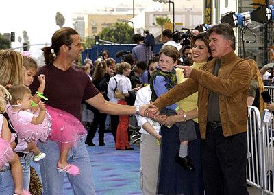 Lorenzo Lamas and Alan Thicke at the Hollywood premiere of Monsters, Inc.