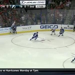 Ben Bishop Save on Niklas Hjalmarsson (02:57/2nd)
