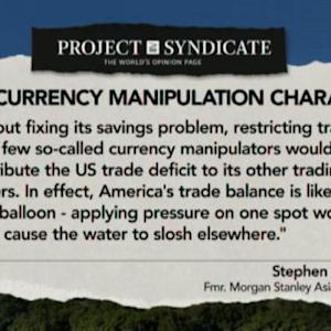 The Currency Manipulation Charade: Stephen Roach