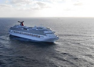 The Carnival Splendor adrift at sea. (U.S. Navy / via L.A. Times)