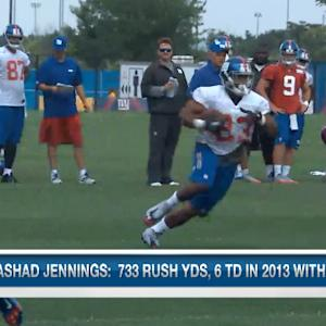 What can the New York Giants expect from Rashad Jennings?
