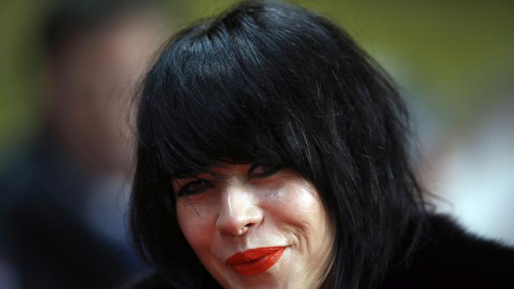 British singer Alex Hepburn is seen before her performance at the French Ligue 1 soccer match between AS Monaco and Sochaux at Louis II stadium in Monaco