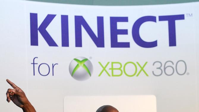 NFL running back Adrian Peterson makes an appearance playing Kinect for Xbox 360 with kids, on Thursday, Jan. 31, 2013 in New Orleans, LA. (Photo by Barry Brecheisen/Invision for Xbox/AP Images)