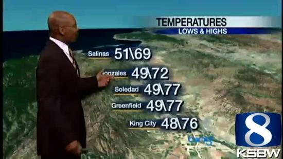 Check out your Saturday evening KSBW Weather Forecast 03 30 13