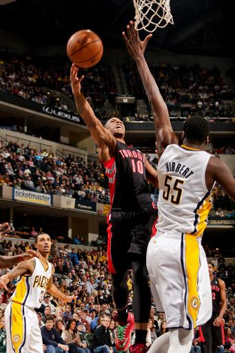 Raptors rally late, surprise Pacers 100-98 in OT