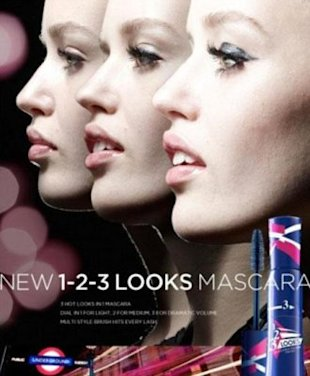 This Rimmel mascara ad ran successfully in the US but was banned in the UK