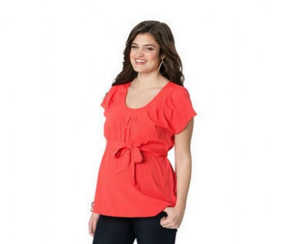 Sash Belt Maternity Blouse