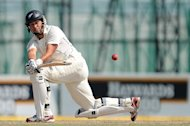 New Zealand captain Ross Taylor plays a shot in Colombo on November 28, 2012. Taylor returned to the Black Caps' fold Friday when he was named in the one-day and Twenty20 squads to face the touring England side this month