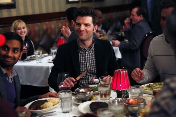 Eye on Emmy: Adam Scott Breaks Down the Art of Parks and Rec Romance, Ben's Geek Affinity