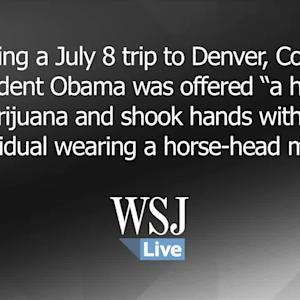 Obama Offered a 'Hit' of Marijuana in Denver