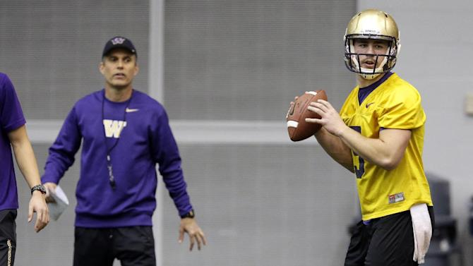 Petersen kicks off first practice at Washington