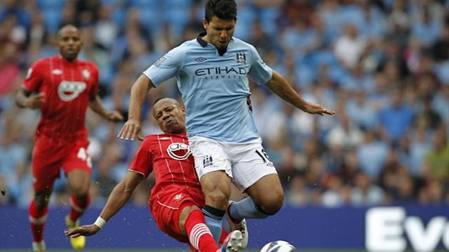 FOOTBALL - 2012/2013 - Manchester City - Southampton - Agüero