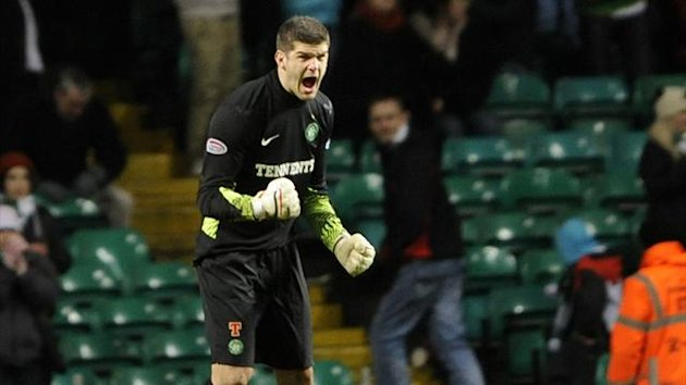 Celtic goalkeeper Fraser Forster