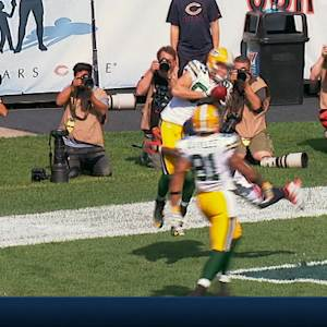 Green Bay Packers wide receiver Jordy Nelson 11-yard touchdown catch