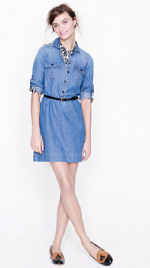 J. Crew Workwear Shirtdress, $118