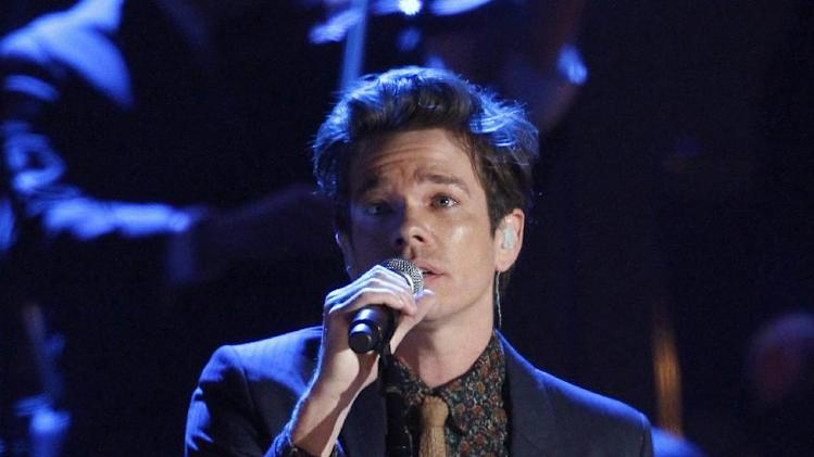 Nate Ruess, of the musical group fun., performs at the Grammy Nominations Concert Live! at Bridgestone Arena on Wednesday, Dec. 5, 2012, in Nashville, Tenn. (Photo by Wade Payne/Invision/AP)