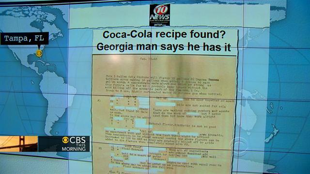 Headlines at 8:30: Man in Ga. claims to have Coca-Cola's recipe
