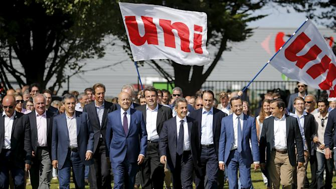 Fillon, Juppe, Solere, Sarkozy, Retailleau, attend the summer university camp held by Loire-Atlantique Republicans Party in La Baule