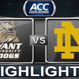 Bryant vs Notre Dame | 2013 ACC Basketball Highlights