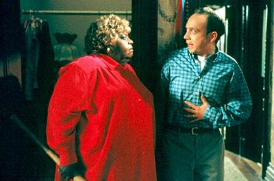 The real Big Momma ( Ella Mitchell ) surprises John ( Paul Giamatti ) in 20th Century Fox's Big Momma's House