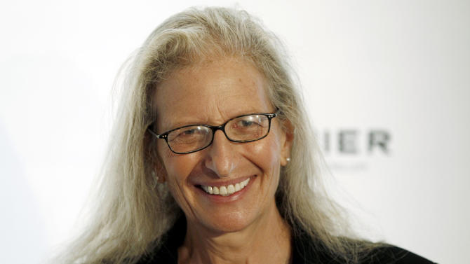 Photographer Annie Leibovitz arrives at the 7th Annual MOCA Award to Distinguished Women in the Arts luncheon in Beverly Hills, Calif. Tuesday, May 1, 2012.  The event honored Leibovitz.  (AP Photo/Matt Sayles)