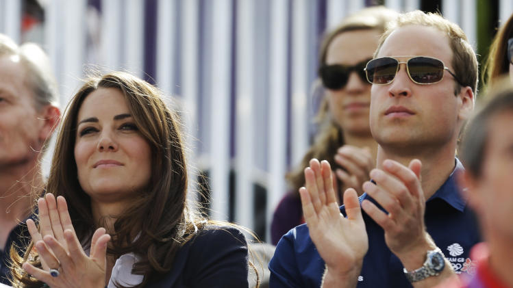 Britain's Catherine, Duchess of Cambridge, and Britain's Prince William