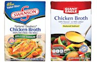 Swanson Chicken broth vs. Giant Eagle