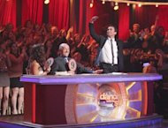Bruno Tonioli goes wild at the judges' table on 'Dancing,' April 2, 2012 -- ABC