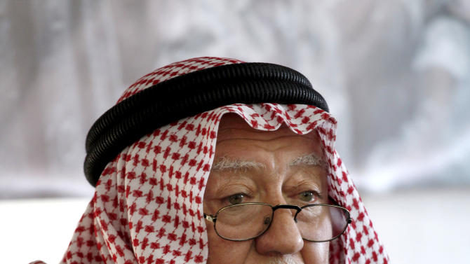 """Secretary General of the Jordanian Islamic Action Front Hamza Mansour speaks during a press conference regarding the Islamic movement boycott of the upcoming parliamentary elections in Amman, Jordan, Tuesday, Jan. 15, 2012. Jordan's largest opposition group says it is keeping its boycott of the upcoming parliamentary elections, but warns it will escalate its """"peaceful"""" rejection of reforms pursued by King Abdullah II. The Jan. 23 elections could set the stage for a possible showdown between Abdullah and the opposition, led by the Islamic Action Front, the political arm of the powerful Muslim Brotherhood. (AP Photo/Mohammad Hannon)"""