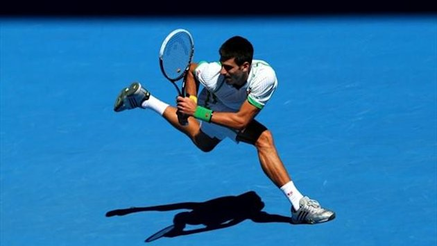 Novak Djokovic - 1st round Australian Open 2013 (GettyImages)