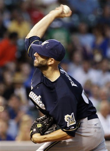 Fiers works 7 1-3 innings as Brewers beat Cubs 3-1