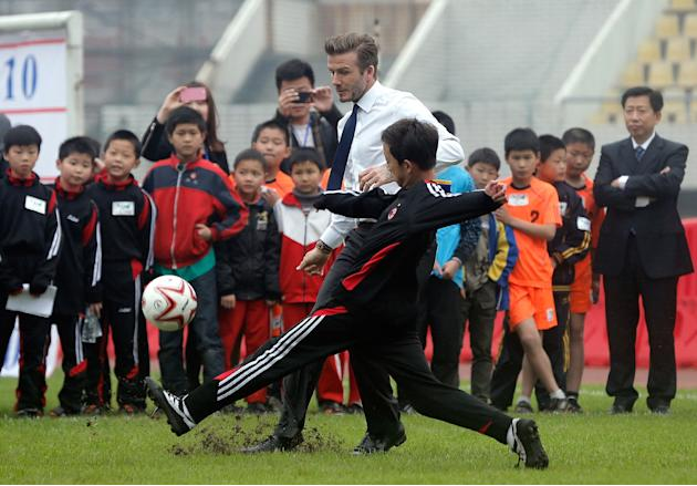 David Beckham Meeting With Wuhan Football Association