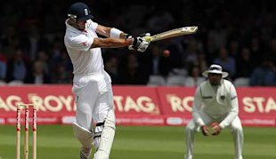 Pietersen completed his sixth Test hundred at Lord's after lunch.
